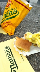 Nathan's Hot Dogs and Fries