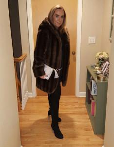 Faux Fur Coat with Mini