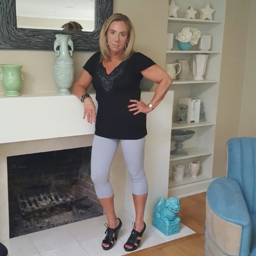 Favorite Workout Clothing for Women Over 50 Yummi capris dressed up