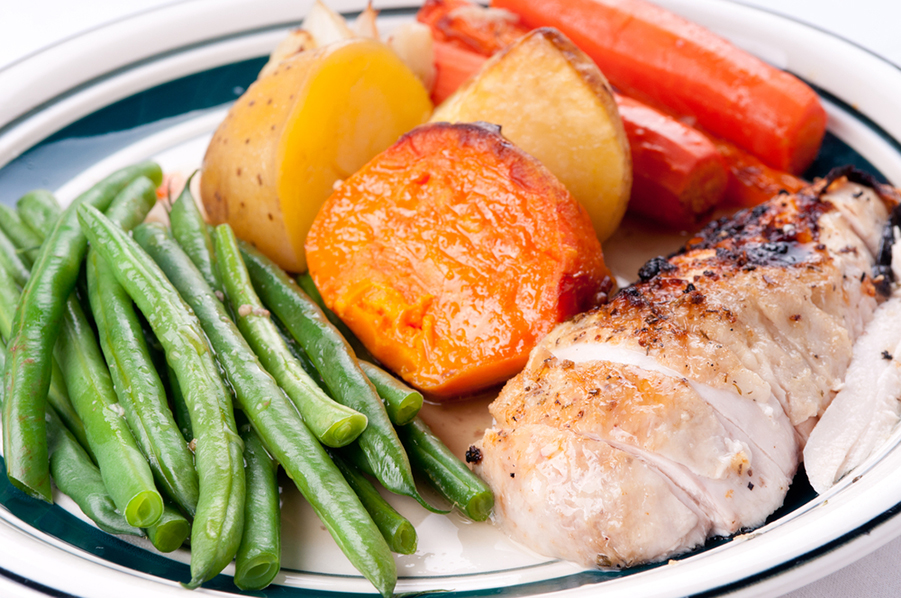 Roasted Chicken and Sweet Potato