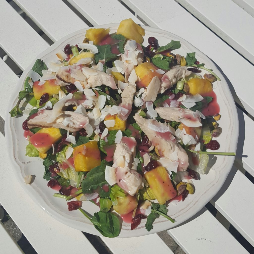 follow-phyllis-tropical coconut chicken salad
