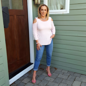 cold shoulder pink topA - follow-phyllis