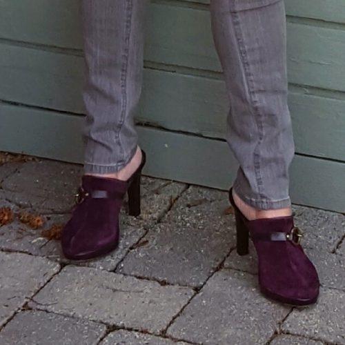 cold shoulder purple top shoes - follow-phyllis