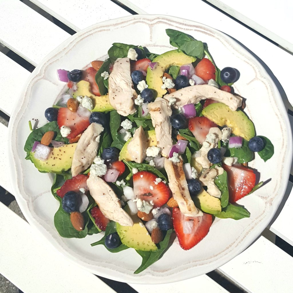 spinach salad with chicken - followPhyllis