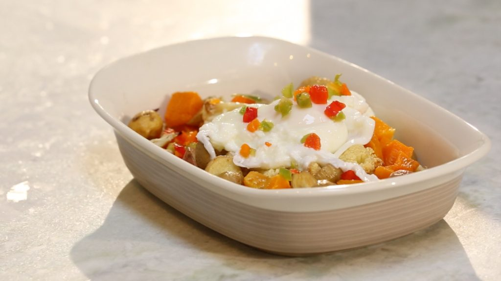 Vegetable hash with poached egg - followPhyllis
