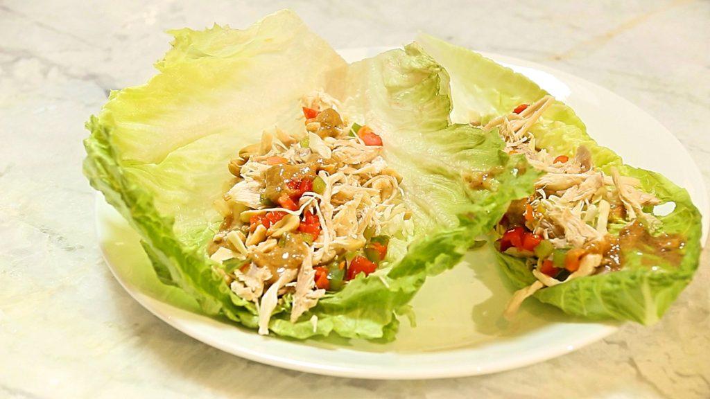 Chicken Lettuce wraps - followPhyllis