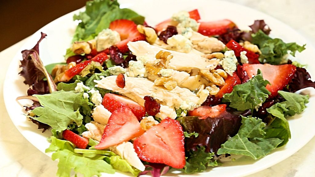 Composed Chicken Strawberry Salad - followPhyllis