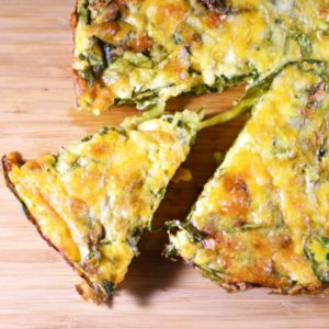 Low Calorie Crustless Spinach Quiche hp - followPhyllis