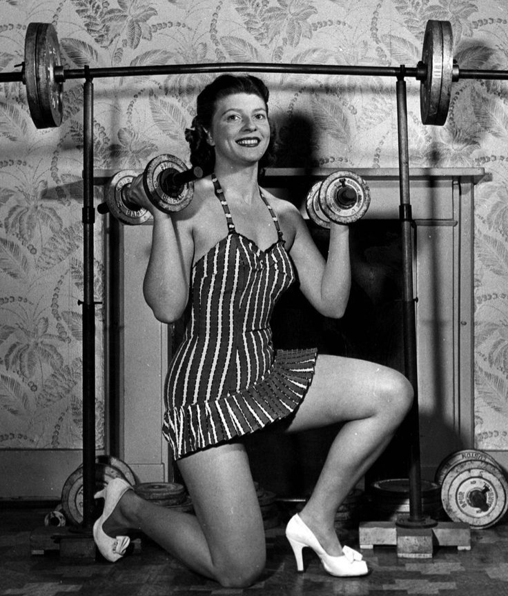 Weightlifting old Hollywood - followPhyllis
