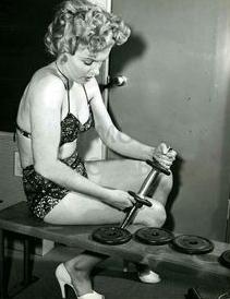 weightlifting old hollywood marilyn monroe - followPhyllis