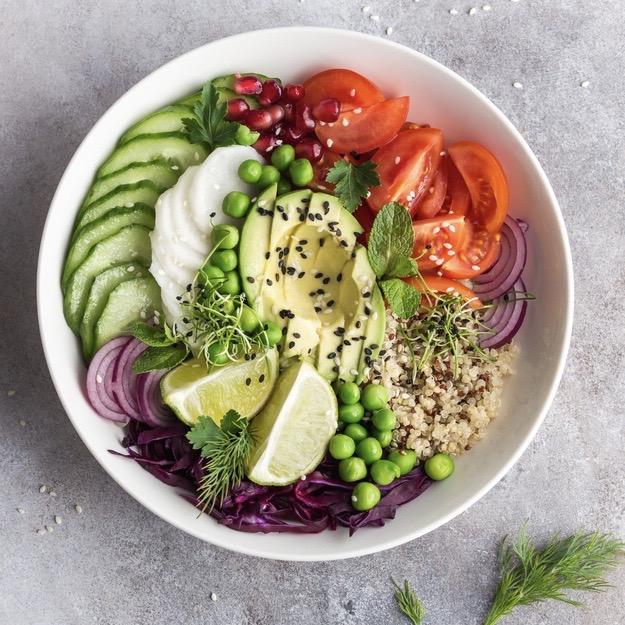 Rainbow Vegan lunch bowl hp - followPhyllis